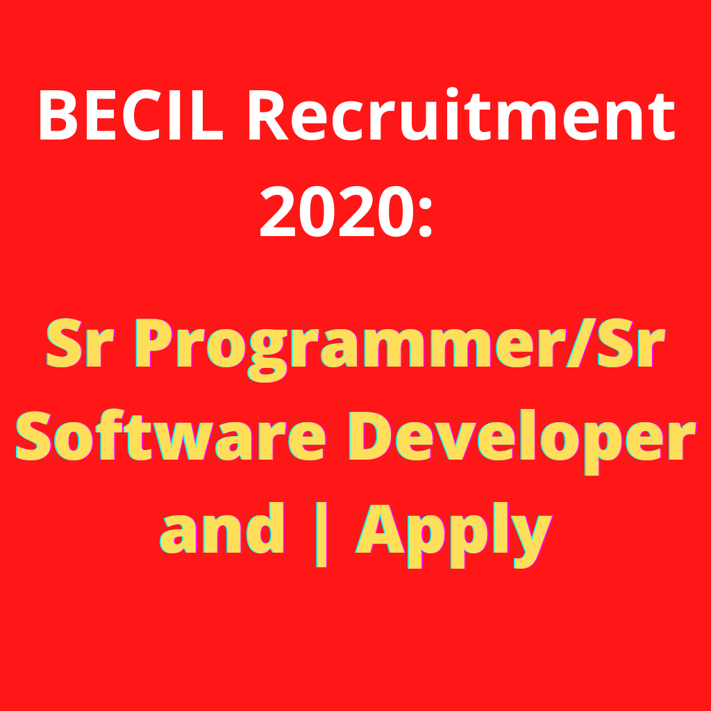 RECRUITMENT of BECIL 2020