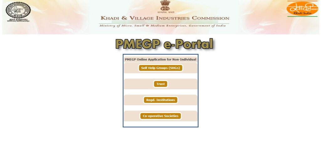 PMEGP Online Application Form Non-Individual